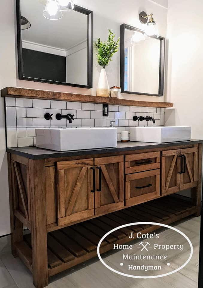 bathroom Vanity - Grand Falls handyman