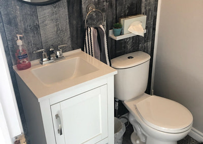 Compact bathroom renovation